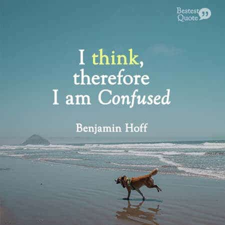 I think therefore I am confused. Benjamin Hoff, the Tao of Pooh