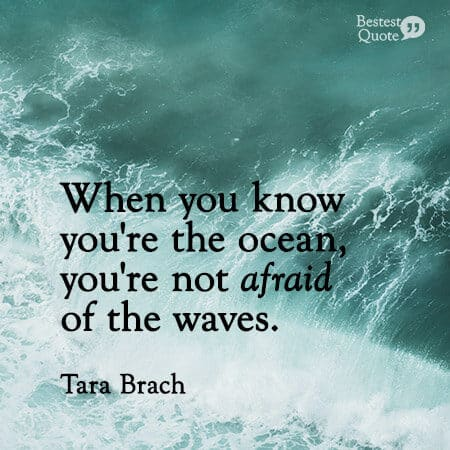 """""""When you know you're the ocean, you're not afraid of the waves."""" Tara Brach"""